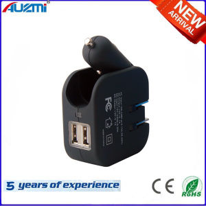 Portable Two-in-One 2USB Car and Travel Charger