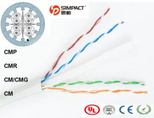 UL/CE/RoHS/ISO Approved UTP Lszh Cm/Cmr CAT6 Communication Cable pictures & photos
