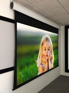 "16: 9 150"" Home Theater Tab-Tension Motorized Projection Screen pictures & photos"