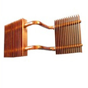Soldered Copper Fin Pipe Heat Sink
