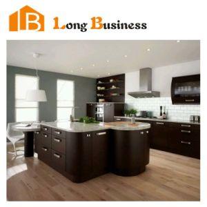 New Design Wenge Veneer Stained Kitchen Cabinets (LB-JX1256)