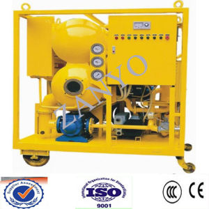 Double-Stage Vacuum Transformer Oil Purifier Online Working (two horizontal evaporator)