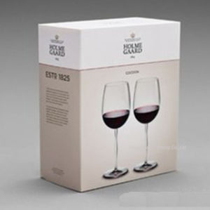 Wholesale Exquisite Paper Cardboard Wine Glasses Gift Box
