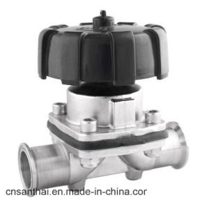 Clamped Type Stainless Steel Sanitary Diaphragm Valve