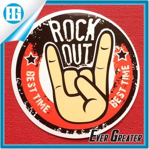 Imitation of The Old Paper Rock out Sticker Custom Design pictures & photos