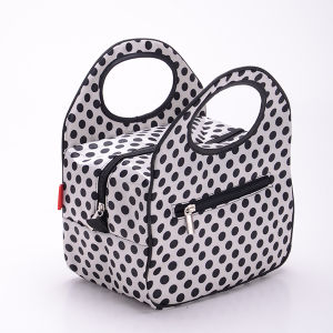 DOT Pattern Design Polyester Lunch Bag pictures & photos