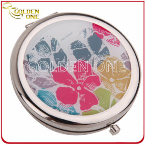 Promotion Gift Folding Custom Printed Metal Compact Mirror pictures & photos