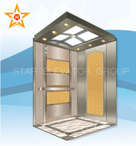 Passenger Lift with Golden Etching Decoration