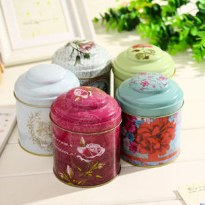 Spice Tin Box with Inner Lid Round Tea Tin Can pictures & photos