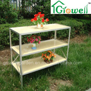 Greenhouse Mini PVC Staging/Shelving with Three Layers (S313-P990) pictures & photos