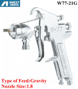 Anest Iwata Pneumatic Spray Gun Gravity Feed 1.8 Nozzle pictures & photos