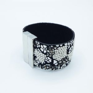 Fashion New Style Leather Alloy Bangle Jewelry