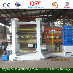 Three Roll Rubber Calender Machine Made in China pictures & photos