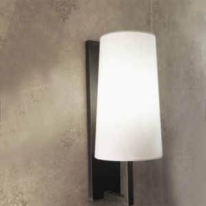 Modern White Fabric Bronze Color IP54 Waterproof Bathroom Wall Light