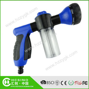 8 Functional High Pressure Car Wash Nozzle Garden Hose Spray With Soap Dispenser