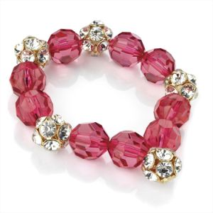 Xg-Be24 Wine Red Fashion Crystal Elastic Bracelet