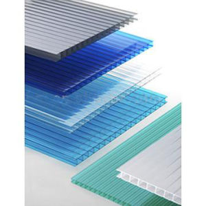 Grade a Twin Wall PC Hollow Sheet Polycarbonate Roofing Sheet (H09)
