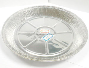 750ml Disposable Round Aluminum Foil Microwave Dishes