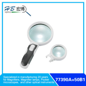 Interchangeable Lens Magnifier with 2 LED pictures & photos