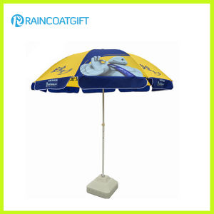 Windproof Polyester Promotional Beach Umbrella pictures & photos