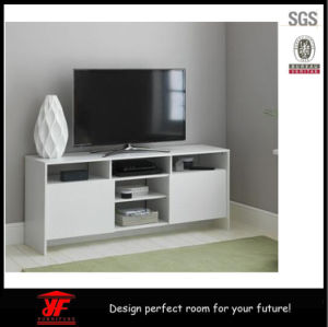 White Modern New Model Corner Wood Led Tv Stand Furniture Design