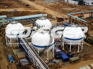 Asme Standard 300m3 to 6000m3 LPG Spherical Tank Storage Tank