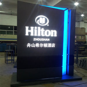 Display Stand Advertising Lightbox With Led Lighting
