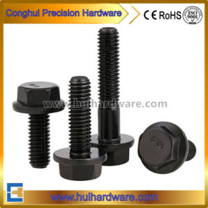 M6-M12 Carbon Steel Grade 8.8 Grade 10.9 Black Oxide Hex Flange Head Bolt DIN6921 pictures & photos