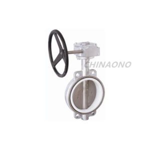 Stainless Steel Wafer Soft Seal Butterfly Valve with Flnage pictures & photos