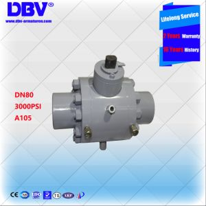 A105 3000psi 3inch Sw Floating Ball Valve for High Pressure