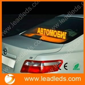 Factory Direct Low Power Consumption P6mm 16X128dots USB Control Yellow LED Taxi Sign