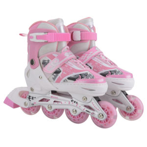 4 Wheels Adjustable Inline Skates with CE