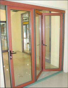 Alu-Wood Bi-Folding Door with Multi-Leaf pictures & photos