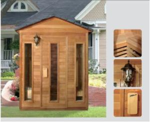 Beautiful 3-7 People Outdoor Sauna Room with Waterproof Roof (FSO-03) pictures & photos