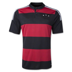Maillot De Foot New 2014 World Cup Germany Away Red Black Camisetas De Futbol Short Sleeve Football Shirts and German National Team Soccer Jerseys Uniforms