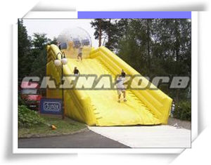 Hot Sale Yellow Inflatable Zorb Ramp Combination of Zorb Ball
