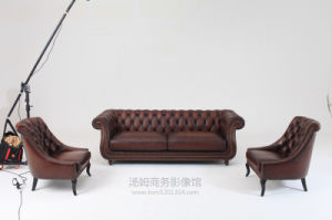 Top Quality Brown Color Chesterfield Sofa pictures & photos