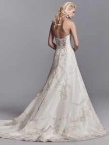 Strapless Wedding Gowns Sweetheart Lace Beaded Bridal Wedding Dress Lb18129 pictures & photos