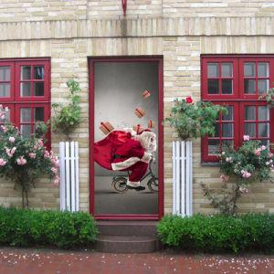 Superbe 3D Door Wallpaper Murals Wall Stickers For Home Decoration Retro Art Door  Decals