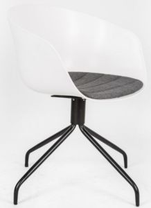 Plastic Back with Arm Rest/Fabric Covered Foam Cushion/Metal Legs Chair
