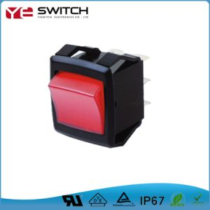 Waterproof Momentary Contact Double Throw Auto Rocker Switch