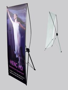 Retractable Banner Stand Mockup Printed Logo Roll up Stand Display