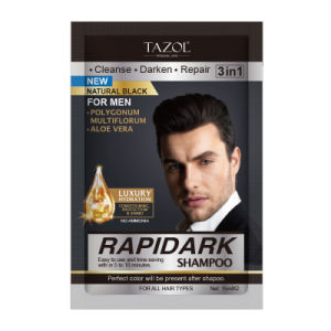 Tazol Hair Care Natural Black Hair Color Shampoo 15ml*2 pictures & photos