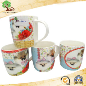 White and Shiny Surface with Unique Animal Pattern Design Mug pictures & photos