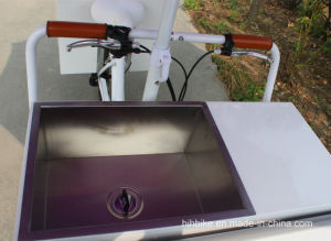 Pedal Assisted Electric Popsicles Vending Tricycle with Freezer pictures & photos