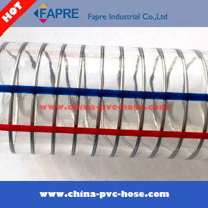 2017 Transparent Flexible PVC Plastic Spring Steel Wire Hose