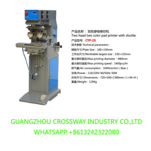 Double Head Double Color Pad Printing Machine