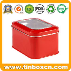 Square Tin Box with PVC Window, Metal Tin Packaging pictures & photos