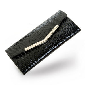 Patent Leather Envelope Wallet Fashion Evening Bag Lady Leather Clutch pictures & photos