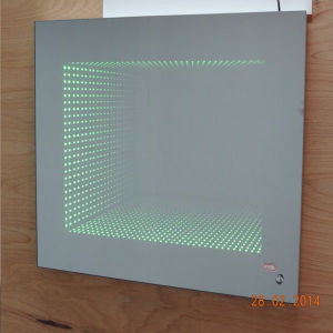 LED Illusion Technique Lighted Bathroom Flexible Colored Infinity Mirror